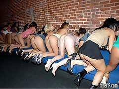 This club action blows the minds of everyone there when these babes start munchin rug on the...