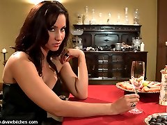 Maitresse Madeline invites Isis Love over for a romantic dinner and shes serving up something...