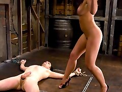 Mistress Penny Flame takes the reins on newbie bitch boy Max Powers and runs him through the...