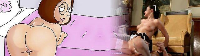 Hot petite babe rubbing her wet underwear