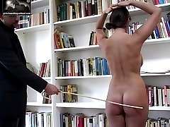 Well striped ass for caned school girl