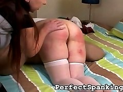 The school girl in this spanking video doesnt mind if she leaves the house looking like slob....