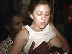Sweet party chick gets cock
