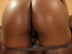 Tasty ebony in pantyhose  shows off her amazing body