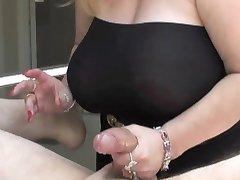 Hot Handjob Big Tit  Girl