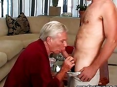 dad got a cock in his ass