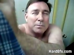 Older man getting wild and horny