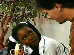 Lil' Black Teen Gets Her Ass Ravaged By Older Guy