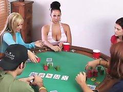 Swingers play poker card game