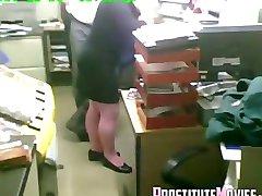 The boss fucks secretary in working hours
