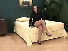 Big tits  short skirt and pantyhose