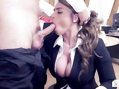BUMS BUERO - Valentine's Day office fuck with busty German MILF secretary