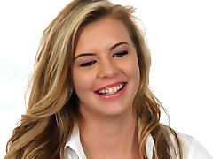 Casting Couch-X Blonde teen excited to get in
