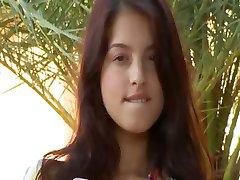 Overblown brunette breasty beauty in HD