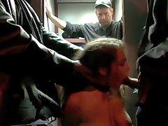 girl in brutal gangbang