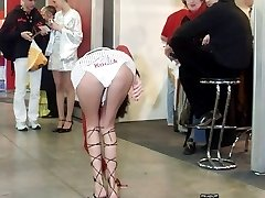 Very spectacular bend over upskirts