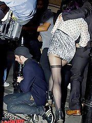 Celebrity fashion scenes of upskirt