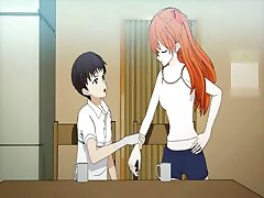 Teen anime enjoys pussy licked