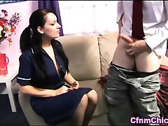 Fetish euro nurse loves old cock