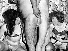Sleazy 1950s London nylon stocking porno!