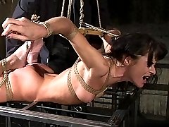 French Bondage Porn Slut Cecilia Vega Forced to Orgasm at the Hands of Ian Rath