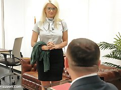 Layla Pryce is a gorgeous, big tit, fuckable blonde bimbo secretary that does anything to keep...