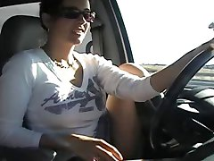 Big Tit Public Car Finger Orgasm