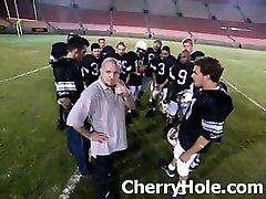 Football Team Gangbangs A Cheerleader - CherryHole.com