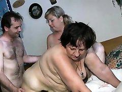 Nasty old sluts go crazy getting fucked part6