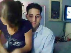 Real amateu couple homemade webcam 18 y.o.