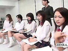 Subtitled CFNM Japanese schoolgirls nude art class