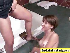 Watersports fetish slut ass fuck piss shower