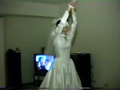 WIFE GANGBANG IN WEDDING DRESS
