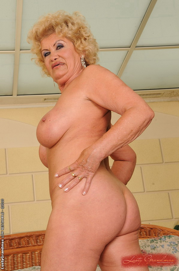 Busty Granny Licking