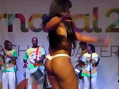 Hot samba dancer - nipple slips