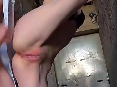 Anal sex in standing position