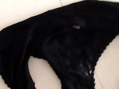 I cum on black panties of my GF - 3