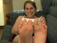 College Girl Lets Friend Tape Her Sexy Dirty Feet Again