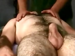 Hairy Bear body and genital massage