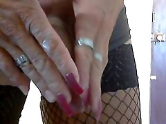 Jane stroking cock for friends