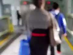 Asian woman in stockings