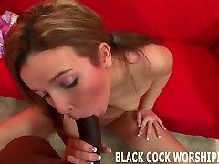 I finally get to taste my first big black cock
