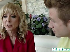 Busty mature riding on cock before facial