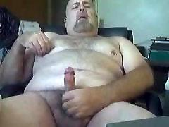 Chubby daddy bear jerking 2