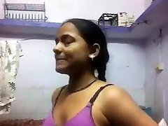 Indian Girl Changing For Her BF
