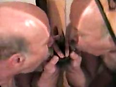 Moustache not daddy sucking at the glory hole