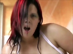 Horny Chubby BBW GF daily shower wet pussy masturbation