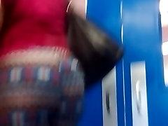 Candid short clip of the big ass ebony milf walking.