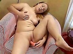 Cute Chubby Teen GF masturbating shaven plump pussy