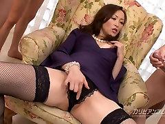 Busty Asian MILF Bukkake